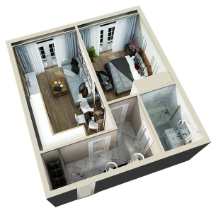 2 комнатная 45 м2